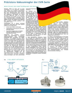 Cover EVR Vacuum Series Installation and Maintenance Guide (German)