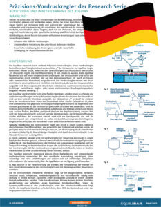 Cover Research Series Installation and Maintenance Guide (German)